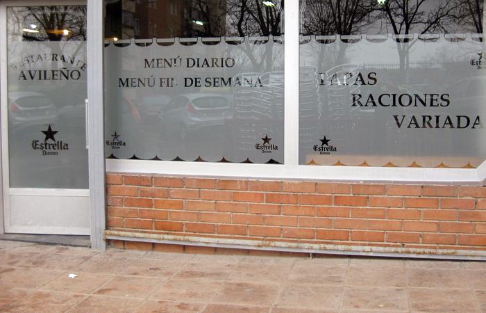 Vinilos impresos madrid aya r tulos for Vinilo exterior pared